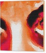 Purple Eyes - Marcello Cicchini Wood Print