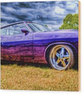 Purple Falcon Coupe Wood Print by Phil 'motography' Clark