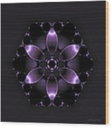 Purple Fantasy Flower Wood Print
