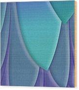 Purple Feathers Wood Print