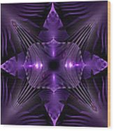Purple Fingerz Wood Print