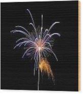 Purple Fire Flower Wood Print