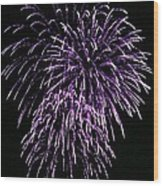 Purple Fire  Wood Print