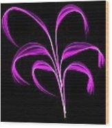Purple Flaring Plant Wood Print