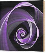Purple Flirt Wood Print
