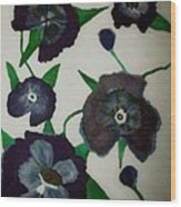 Purple Floral Burst Wood Print