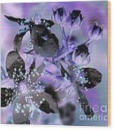 Purple Flower Abstract  2 Wood Print