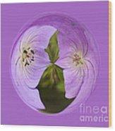 Purple Flower Orb Wood Print