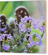 Purple Flowered Angel Wood Print
