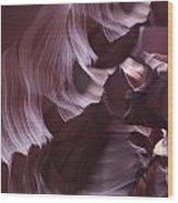 Purple Folds Wood Print