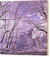 Purple Forest Wood Print