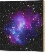 Purple Galaxy Cluster Macs J0717 Wood Print