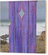 Purple Gateway To The Sea  Wood Print