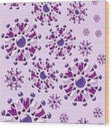 Purple Gems Wood Print
