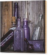 Purple Glass Wood Print