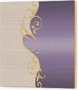 Purple Gold Chevron Wood Print