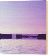 Purple Harbor Wood Print