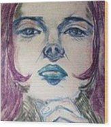 Purple Haze Wood Print by Agata Suchocka-Wachowska