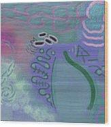 Purple Haze Between The Clouds Wood Print by Lazaros