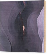 Purple Haze In Antelope Canyon Wood Print