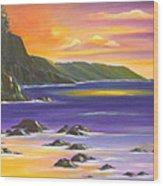 Purple Haze In Hawaii Wood Print