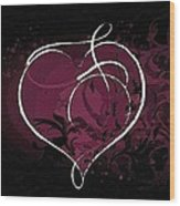 Purple Heart Of Passion Wood Print