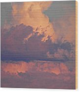 Purple Heavens Wood Print