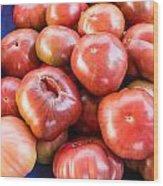Purple Heirloom Tomatoes  Wood Print
