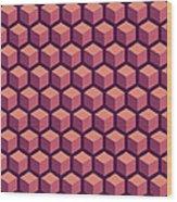 Purple Hexagonal Pattern Wood Print