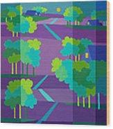 Purple Hill Farms Wood Print