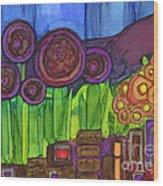 Purple Hills Wood Print