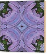 Purple Hydrangea Flower Abstract 2 Wood Print