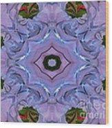 Purple Hydrangea Flower Abstract Wood Print