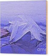 Purple Ice Wood Print