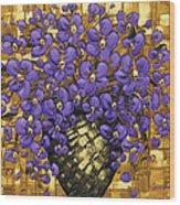 Purple In The Warm Glow Wood Print
