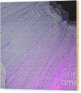 Purple Iris Ice Eye Wood Print