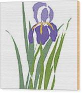 Purple Iris Stylized Wood Print