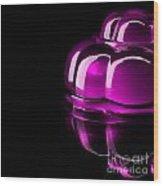 Purple Jelly Wood Print