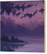Purple Jungle Wood Print