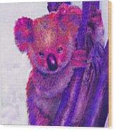 Purple Koala Wood Print