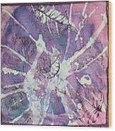 Purple Leaves Wood Print