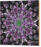 Purple Lilac Kalidescope Wood Print