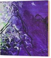Purple Mood Wood Print