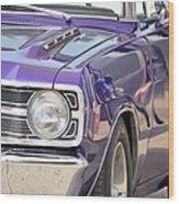 Purple Mopar Wood Print