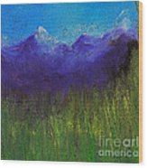 Purple Mountains By Jrr Wood Print