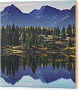 Purple Mountains Majesty Wood Print