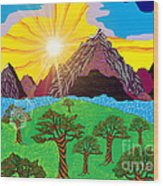 Purple Mountains Majesty Wood Print by Lewanda Laboy