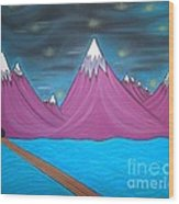 Purple Mountains Wood Print by Robert Nickologianis