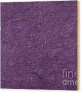 Purple Mulberry Paper  Wood Print