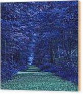 Purple Nature Wood Print